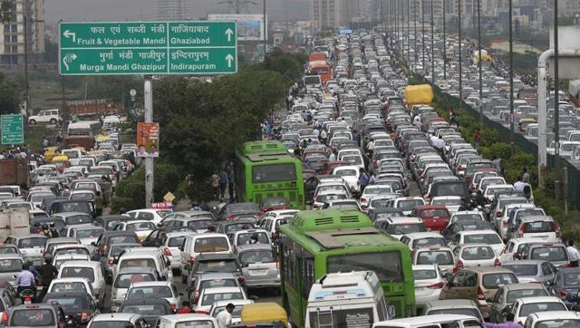 Traffic stress on road
