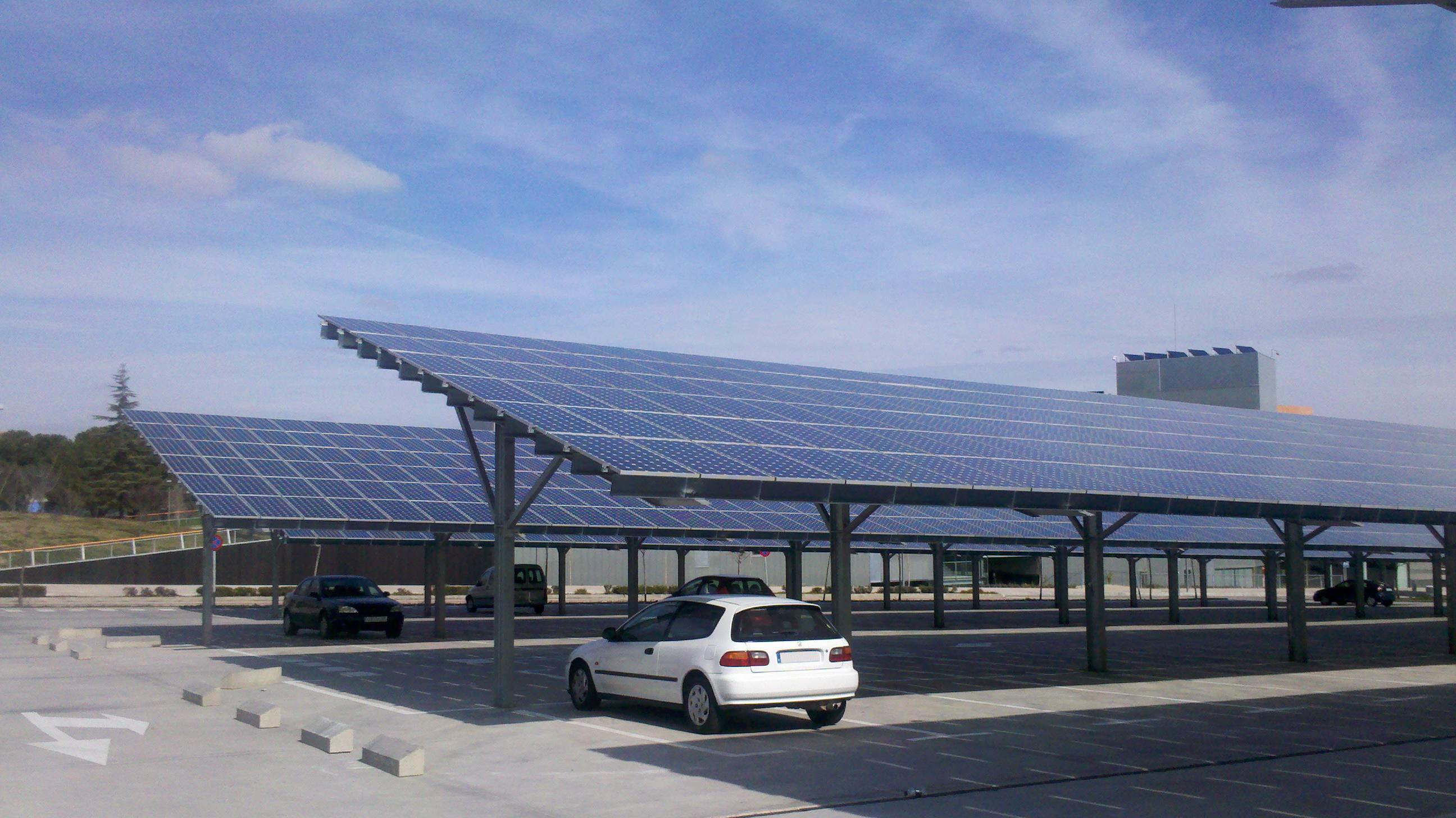 Solor powered parking lots